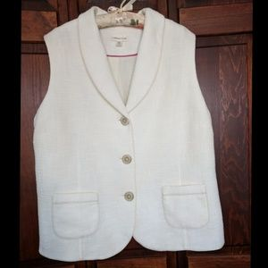 Coldwater Creek vest in creamy white